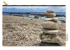 Carry-all Pouch featuring the photograph Beach Zen by Brian Eberly