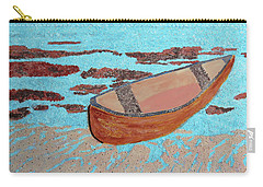 Carry-all Pouch featuring the painting Beached At Washington Oaks Park by Deborah Boyd