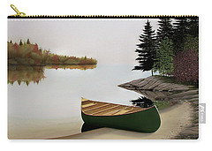 Beached Canoe In Muskoka Carry-all Pouch by Kenneth M  Kirsch