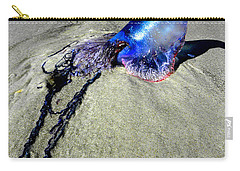 Beached Jellyfish 000 Carry-all Pouch by Chris Mercer