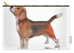 Beagle Watercolor Painting By Kmcelwaine Carry-all Pouch