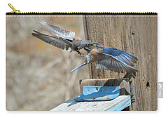 Carry-all Pouch featuring the photograph Beak To Beak by Mike Dawson