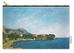 Carry-all Pouch featuring the painting Bealieu - The Bay Of Fourmis by Eugene Boudin