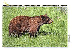 Bear Eating Daisies Carry-all Pouch