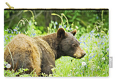 Bear In Flowers Carry-all Pouch