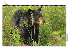 Carry-all Pouch featuring the photograph Bear In The Grass by Coby Cooper