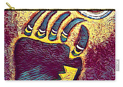 Bear Paw Print 3  Carry-all Pouch