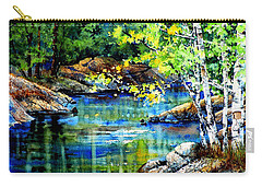 Carry-all Pouch featuring the painting Bear Paw Stream by Hanne Lore Koehler