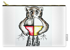 Bear With Medicine Wheel Carry-all Pouch