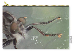 Carry-all Pouch featuring the photograph Bearded Bug by Christina Verdgeline