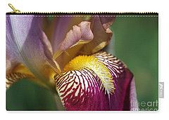 Bearded Iris Flower Mary Todd Carry-all Pouch by Joy Watson
