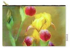 Bearded Iris Pair Carry-all Pouch
