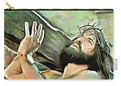 Bearing The Cross Carry-all Pouch by Wayne Pascall