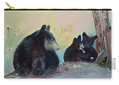 Bears Frolicking In Spring Carry-all Pouch by Jan Dappen