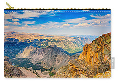 Carry-all Pouch featuring the photograph Beartooth Highway Scenic View by John M Bailey