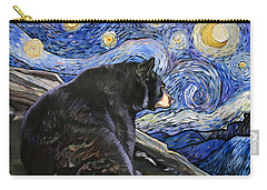 Beary Starry Nights Carry-all Pouch by J W Baker