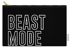 Beast Mode On - Gym Quotes - Minimalist Print - Typography - Quote Poster Carry-all Pouch
