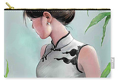Carry-all Pouch featuring the painting Beatiful Dress by Jieming Wang