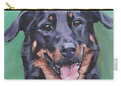 Beauceron Portrait Carry-all Pouch by Lee Ann Shepard