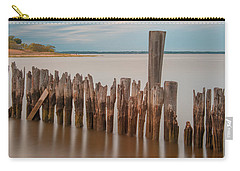 Beautiful Aging Pilings In Keyport Carry-all Pouch