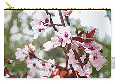 Beautiful Almond Blossoms Carry-all Pouch