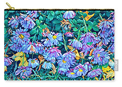 Beautiful Baby Blues - The Flowers Of Spring Carry-all Pouch by Miriam Danar