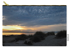 Beautiful Beach San Dunes Sunset And Clouds Carry-all Pouch