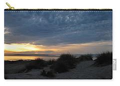 Beautiful Beach San Dunes Sunset And Clouds Carry-all Pouch by Matt Harang