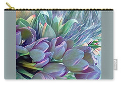 Carry-all Pouch featuring the photograph Beautiful Blues Of Spring - Tulips by Miriam Danar