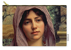 Beautiful Brunette 1918 Carry-all Pouch by Padre Art
