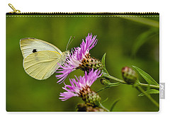 Beautiful Butterfly On Pink Thistle Carry-all Pouch