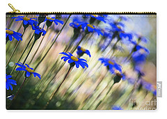 Beautiful Dancing Blue Flowers Romance Carry-all Pouch