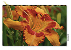 Carry-all Pouch featuring the photograph Beautiful Daylily by Sandy Keeton