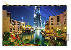 Beautiful Downtown Area In Dubai At Night, Dubai, United Arab Emirates Carry-all Pouch