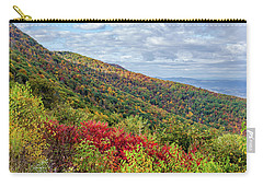 Carry-all Pouch featuring the photograph Beautiful Fall Foliage In The Blue Ridge Mountains by Lori Coleman