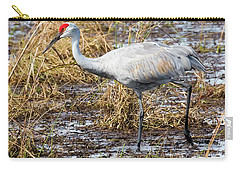 Beautiful Day For A Walk -sandhill Crane   Carry-all Pouch by Ricky L Jones