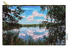 beautiful forest lake in Sunny summer day Carry-all Pouch