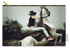 Beautiful Girl Ridingwhite Horse Carry-all Pouch