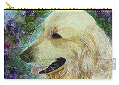 Carry-all Pouch featuring the painting Beautiful Golden by Claire Bull