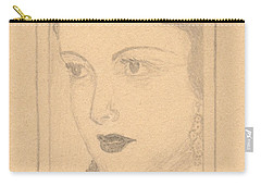 Beautiful Lady Face Carry-all Pouch