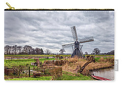 Beautiful Landscape With A Spiderhead Mill In The Netherlands Carry-all Pouch