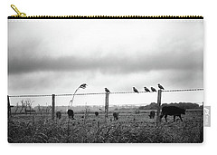 Beautiful Little Birds On Fence Carry-all Pouch