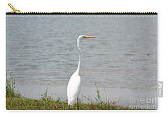 Carry-all Pouch featuring the photograph Beautiful Male Egret by Maria Urso