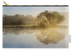 Carry-all Pouch featuring the photograph Beautiful Misty River Sunrise by Christina Rollo