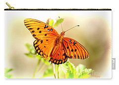 Carry-all Pouch featuring the photograph Beautiful Gulf Fritillary by Donna Bentley