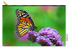 Carry-all Pouch featuring the photograph Beautiful Monarch by Rodney Campbell