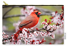 Beautiful Northern Cardinal Carry-all Pouch by Trina Ansel