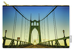 Beautiful Portland Saint Johns Bridge At Sunset Carry-all Pouch