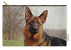 Carry-all Pouch featuring the photograph Beautiful Raven by Sandy Keeton