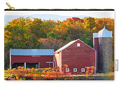 Carry-all Pouch featuring the painting Beautiful Red Barn 2 by Lanjee Chee